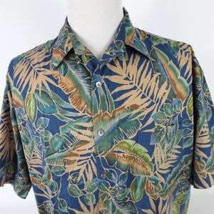 Tori Richard XL Hawaiian Shirt Floral Tropical